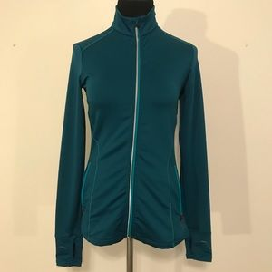 REI Teal running/warm up mock neck jacket SZ XS